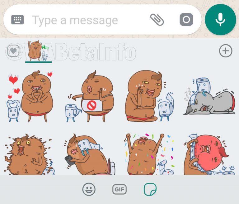 WhatsApp beta Stickers Media visibility