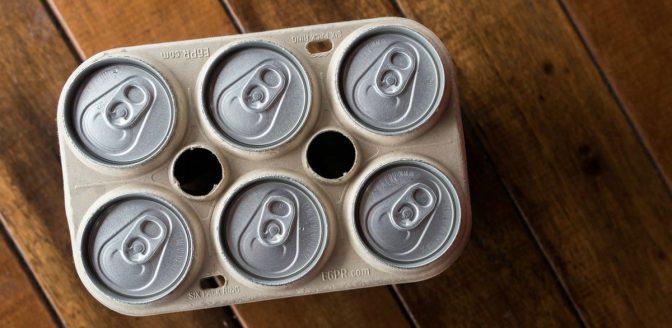 Eetbaar sixpack bier