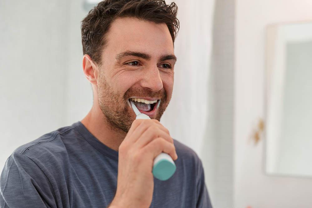 man elektrische tandenborstel
