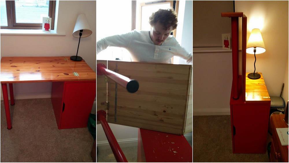 Ikea hack bureau debout bureau ikea hack ikea etagere angle