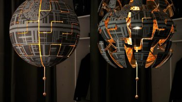 Ikea hack Death Star lamp