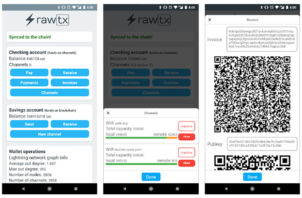 Rawt Lightning Network wallet