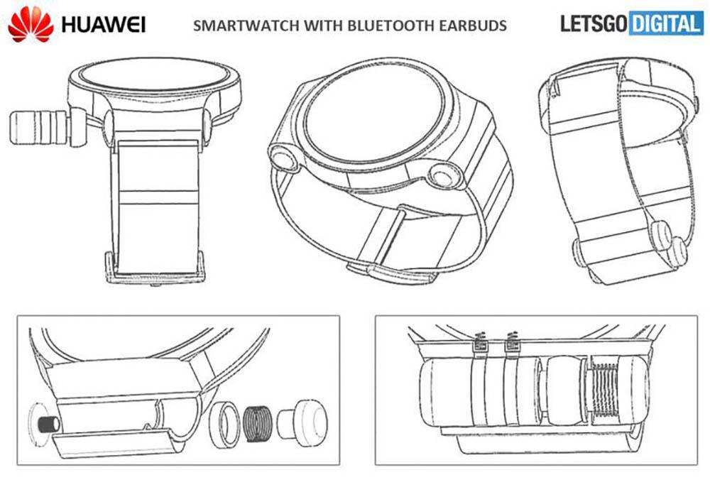 Huawei smartwatch ingebouwde oordopjes
