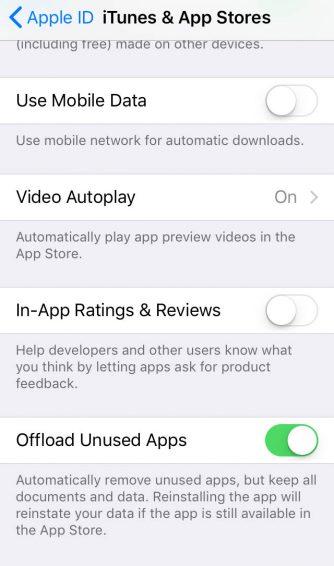iPhone in-app ratings