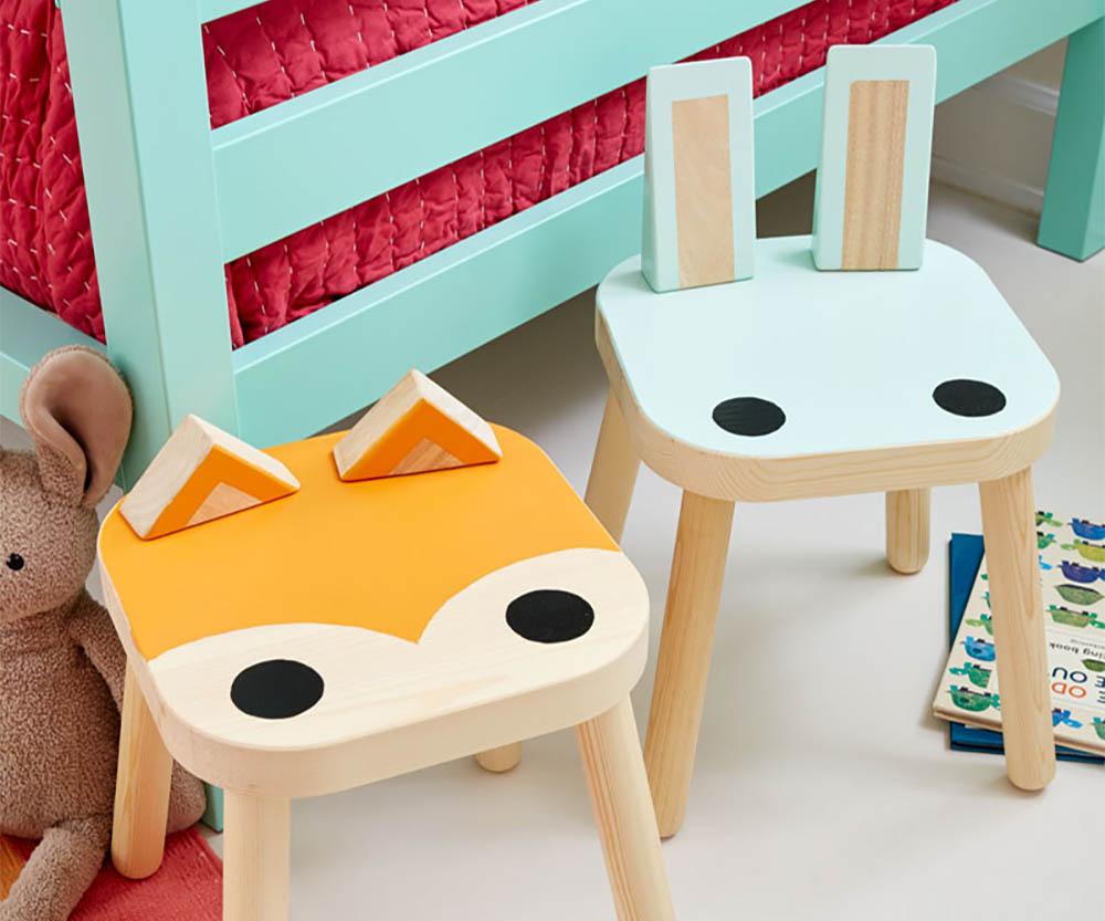 Ikea hack dieren krukje