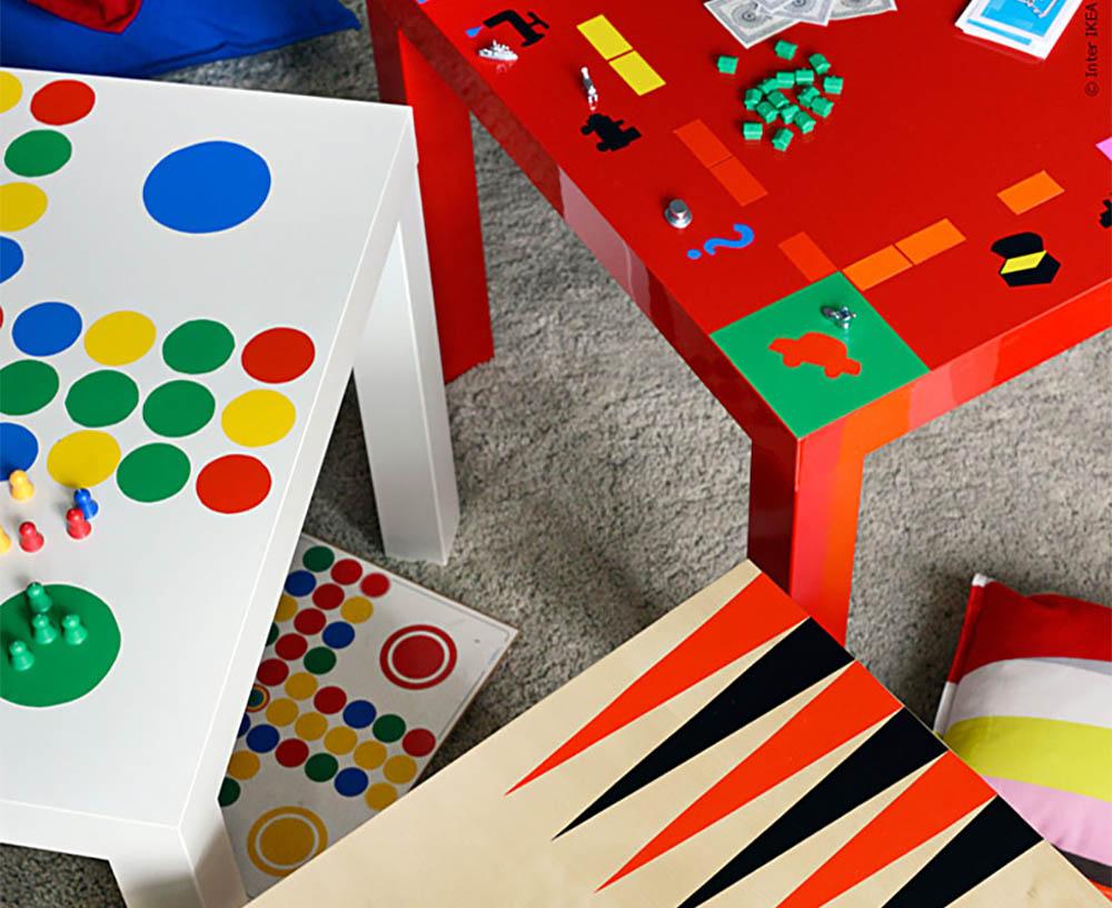 Ikea hack spelletjes tafel