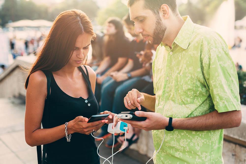 powerbank smartphone batterij opladen