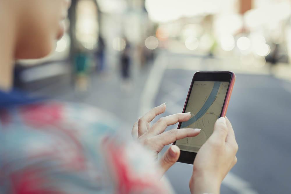 smartphone navigatie