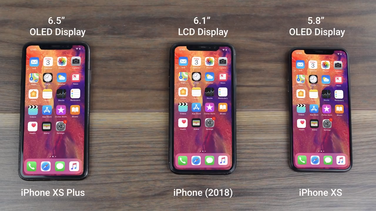 iPhone 2018, iPhone XS en iPhone XS Plus?