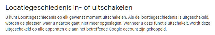 Google locatiegeschiedenis
