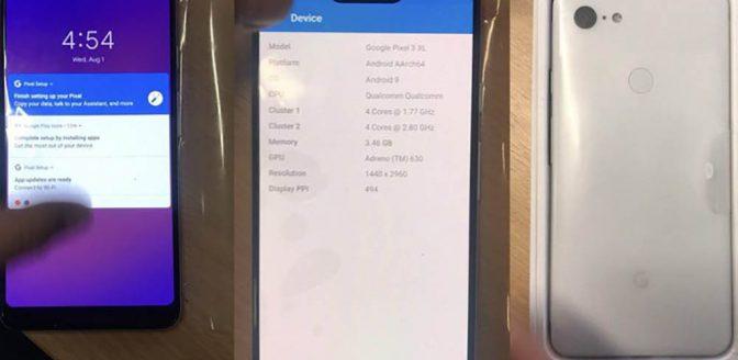 Google Pixel 3 XL gelekte foto's