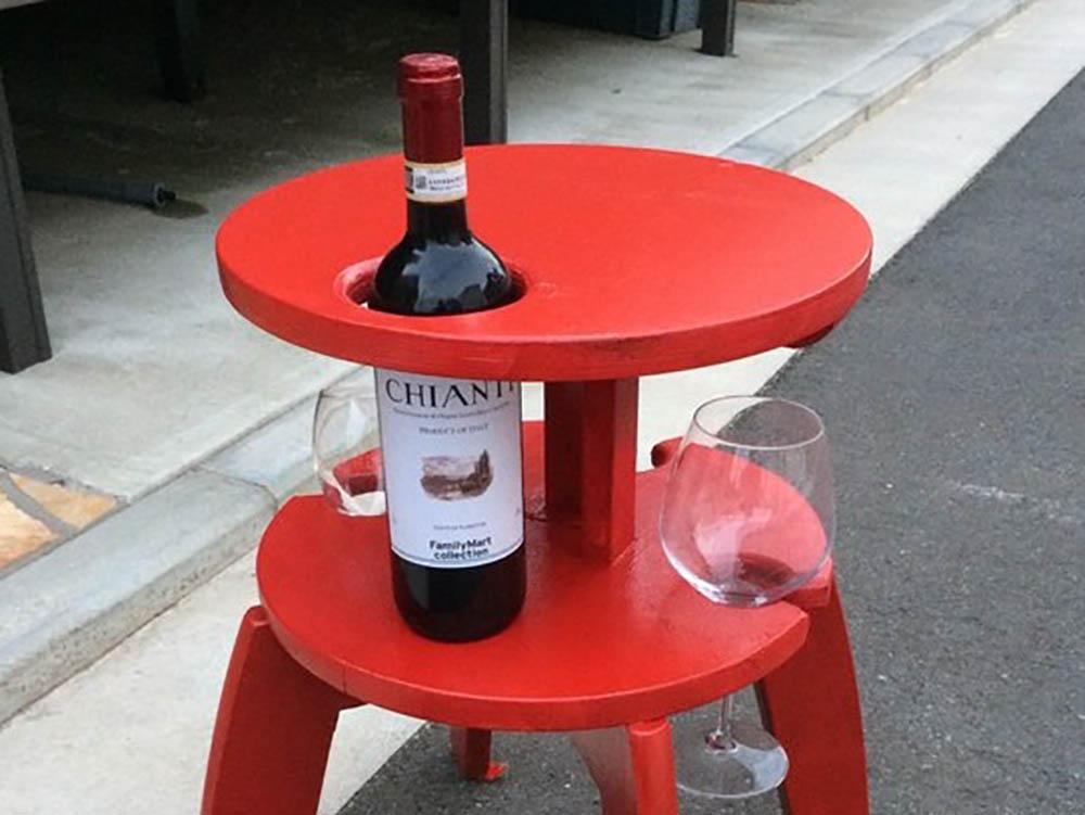 Ikea hack FROSTA wijntafel