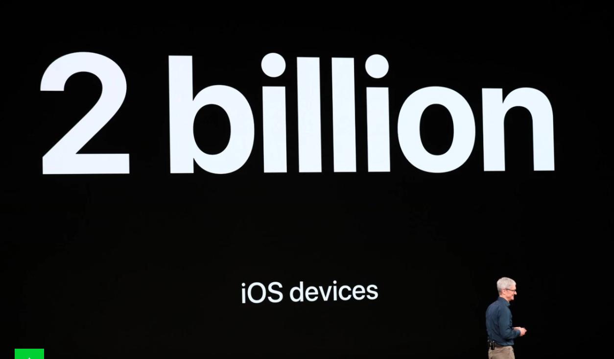iOS 2 miljard