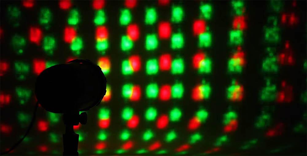 Action laserprojector