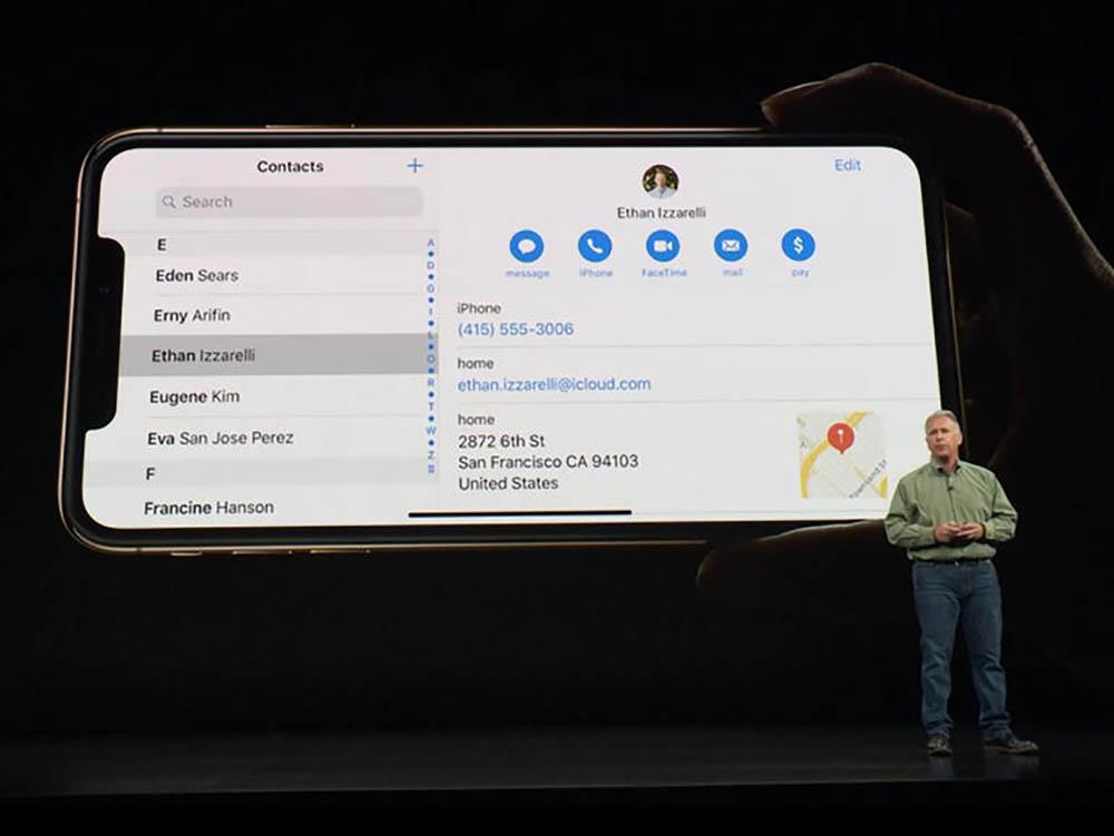 iPhone XS dual-pane