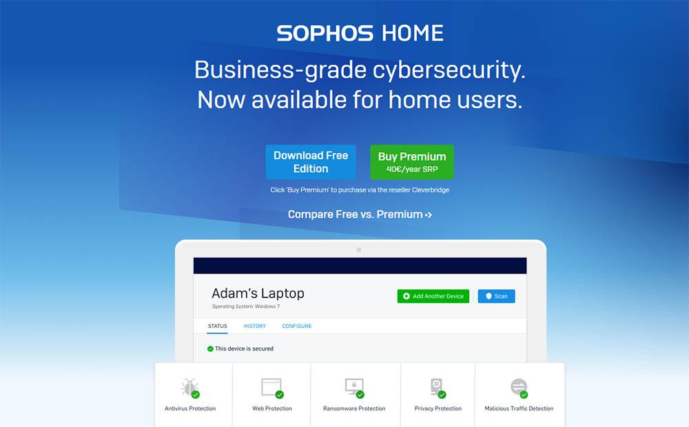 Sophos antivirusprogramma's