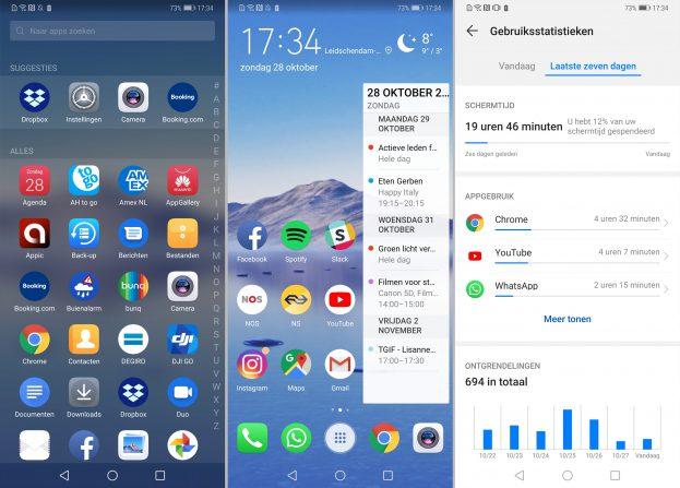 Huawei Mate 20 Pro screenshot interface