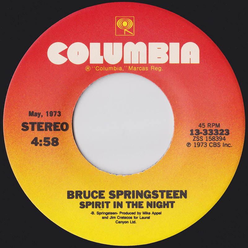 Bruce Springsteen - Spirit in the Night lp's