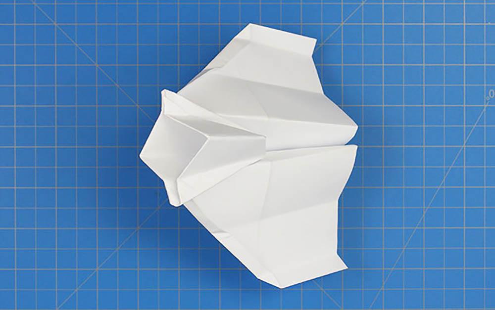 Fold'NFly papieren vliegtuig