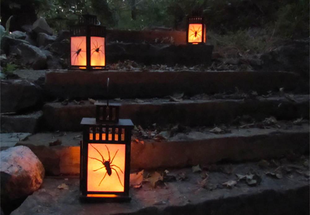 Ikea hack halloween lantaarn