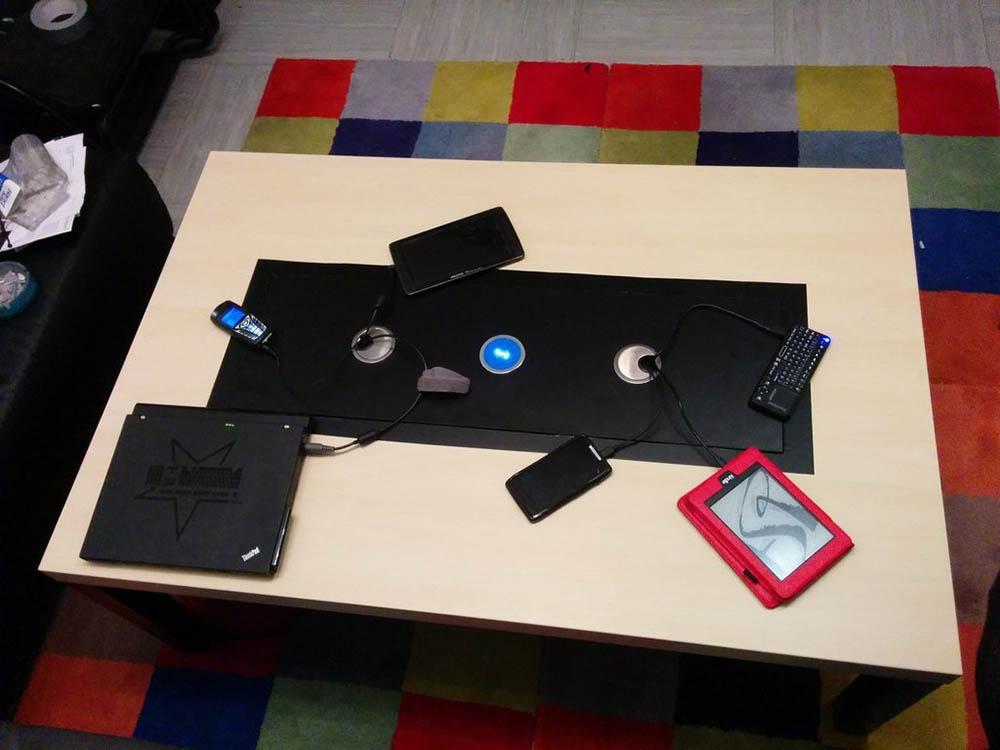 Ikea hack media tafel