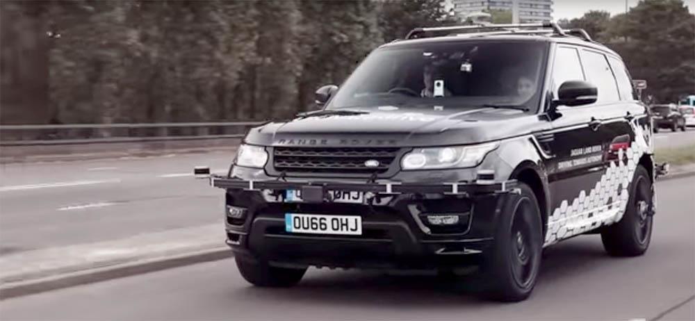 zelfrijdende Range Rover