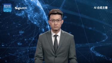 Eerste virtuele nieuwslezer tijdens journaal china