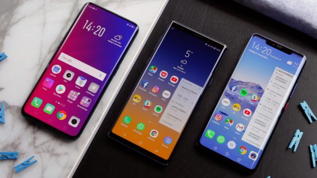 Huawei Mate 20 Pro vs Samsung Galaxy Note 9 vs Oppo Find X