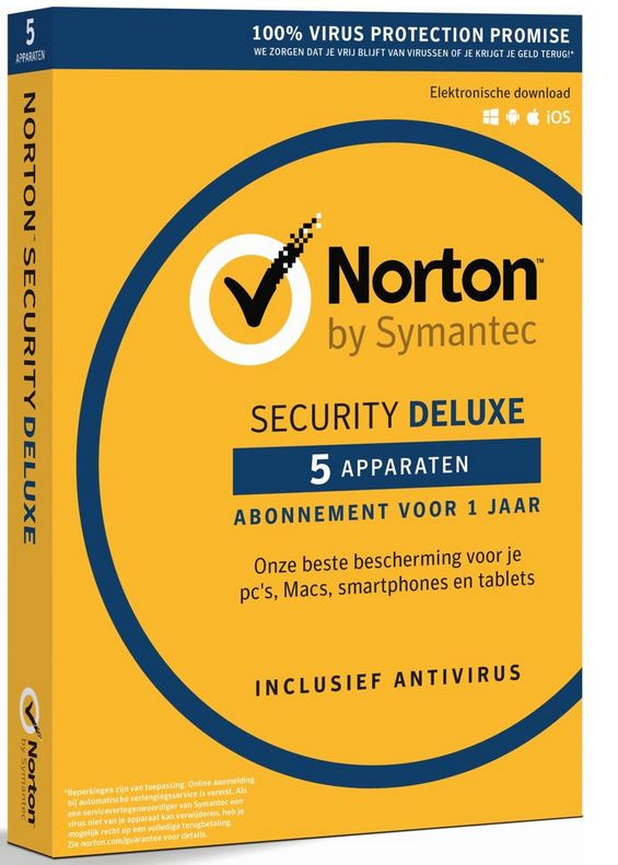 Norton Security Antivirus Deluxe 5 apparaten