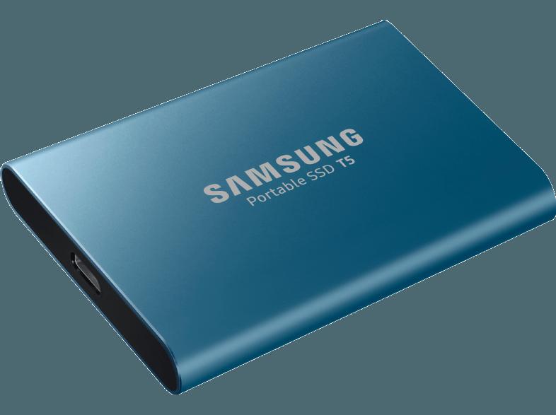 Samsung draagbare harde schijf type T5 met 250 GB geheugen