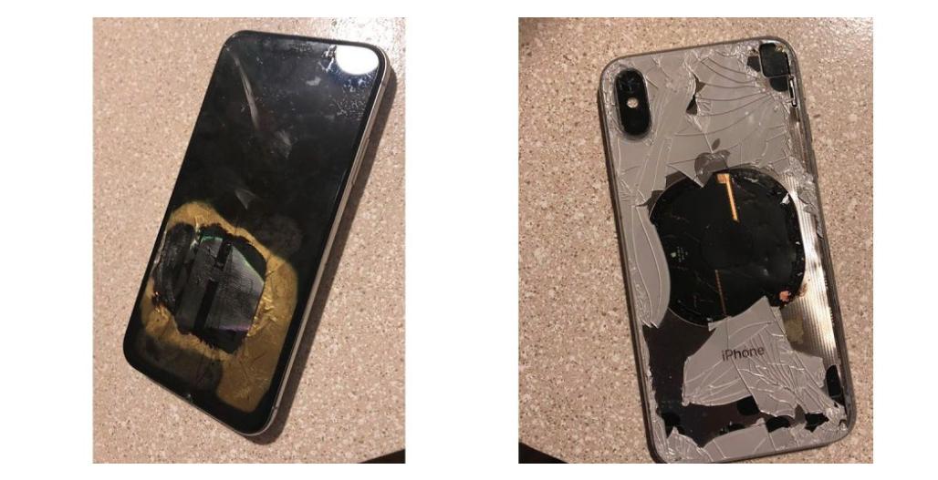 iPhone X explosie rook