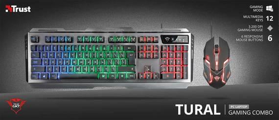 Trust gaming toetsenbord en gaming muis GXT 845 Tural als deal bij Bol.com
