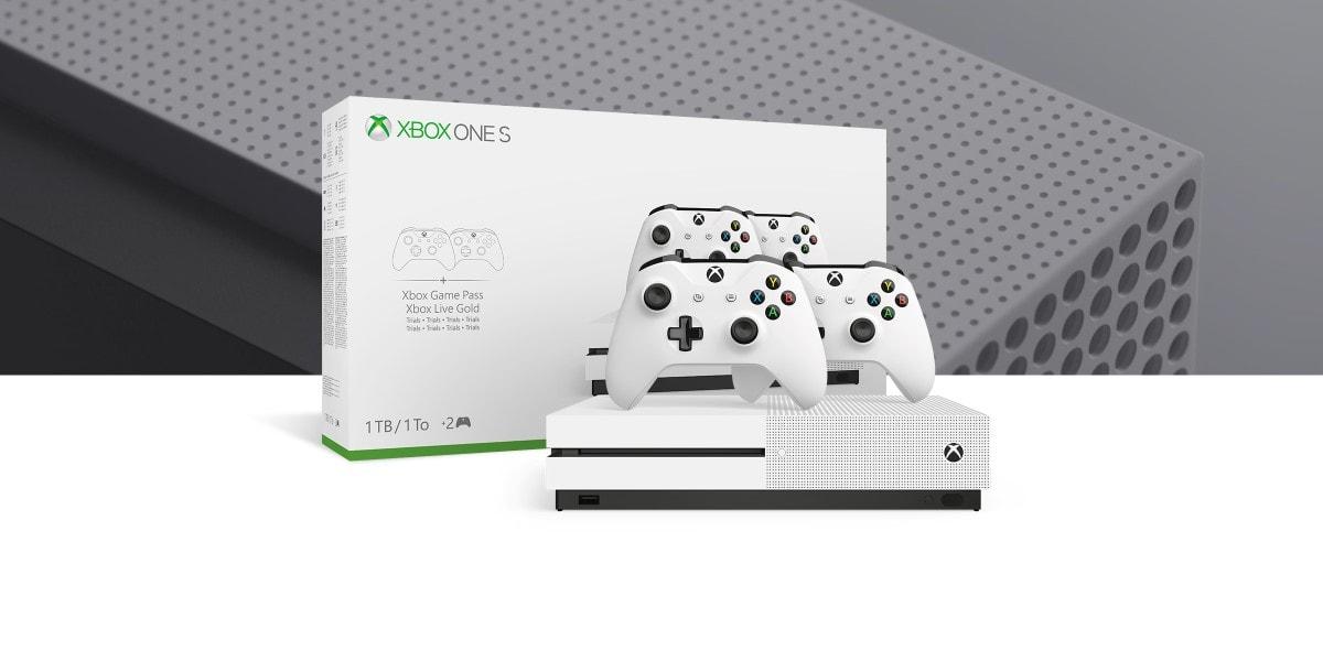 XBox One S met 2 controllers, bonusgames en korting op XBox Live Gold als deal bij Bol.com