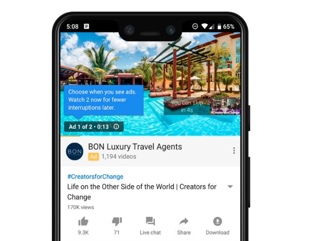 YouTube komt met nieuwe feature advertenties