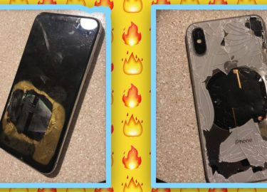 iPhone X ontploffing