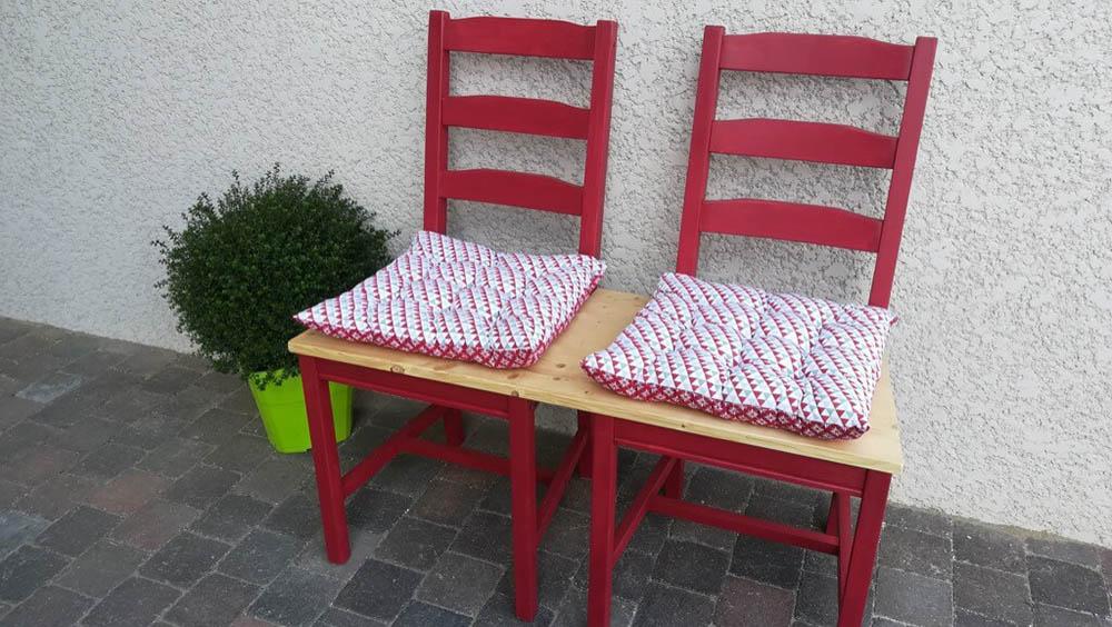 Ikea hack tuinbankje