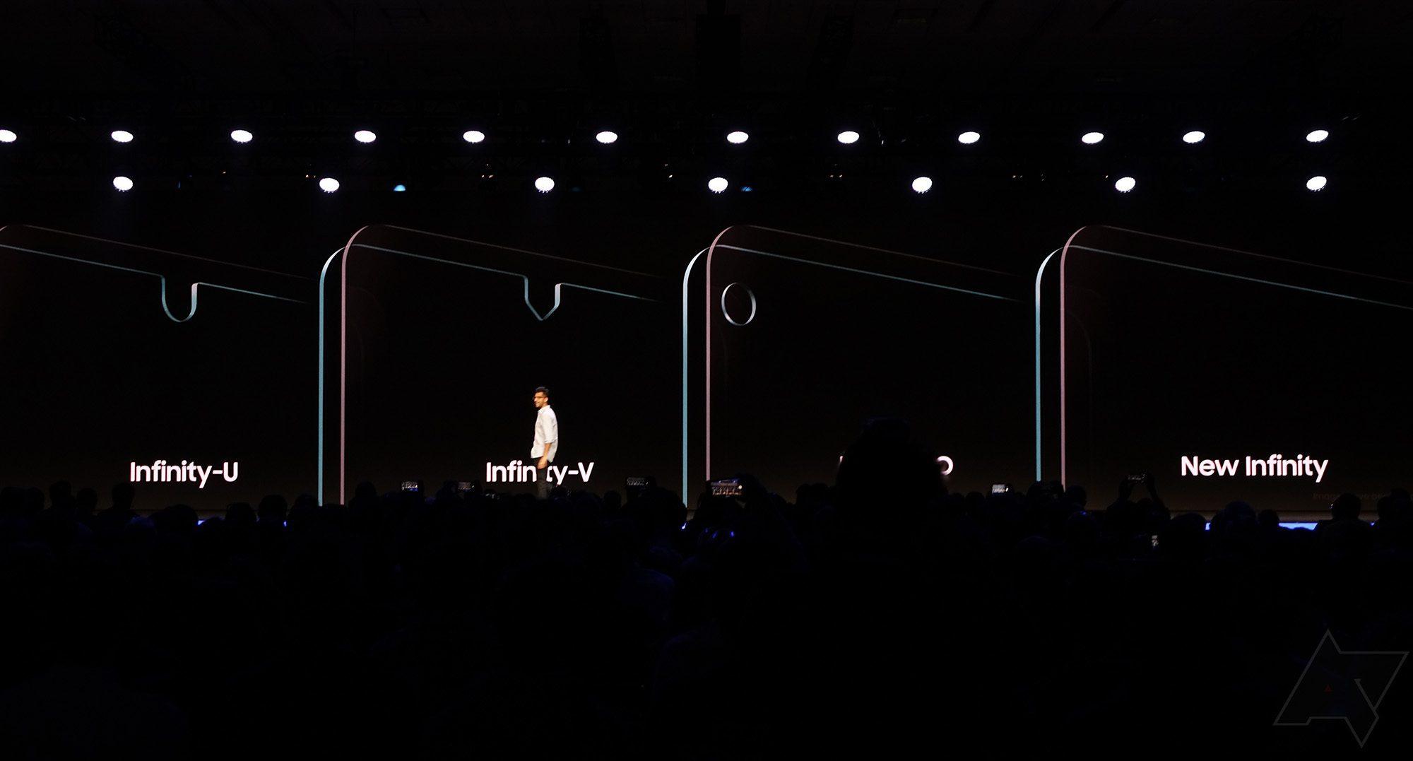 Samsung Galaxy S10 scherm notch
