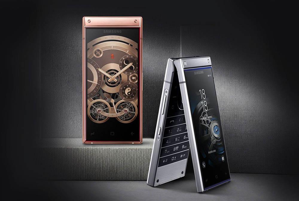 Samsung W2019 flip smartphone