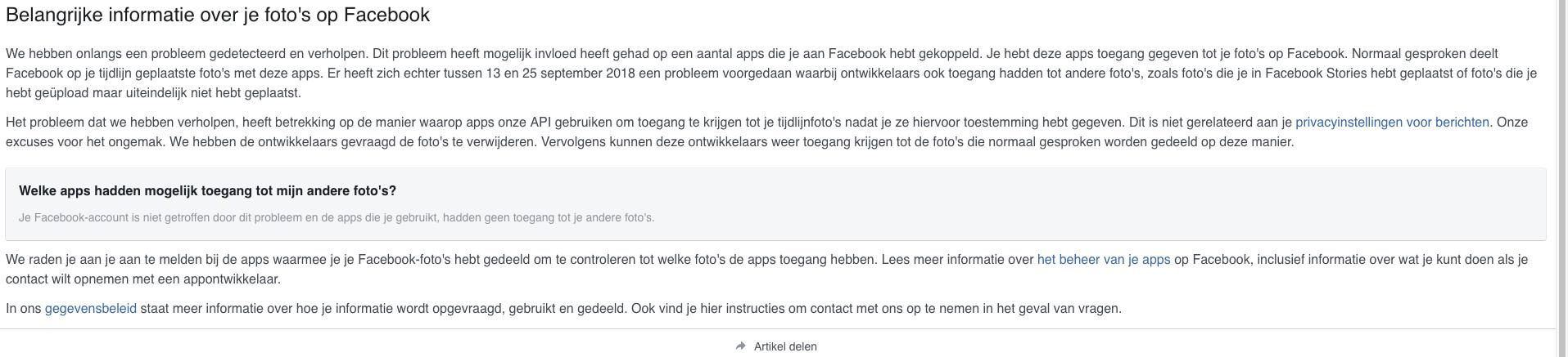 Facebook foto hack
