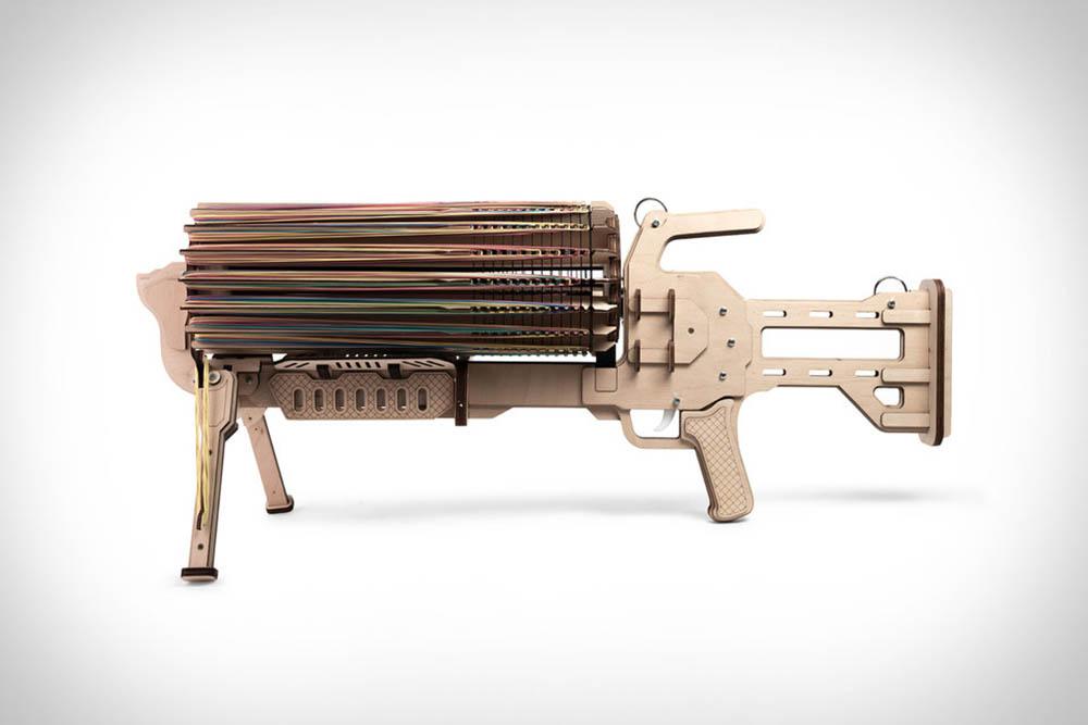 Machinegeweer elastiekjes