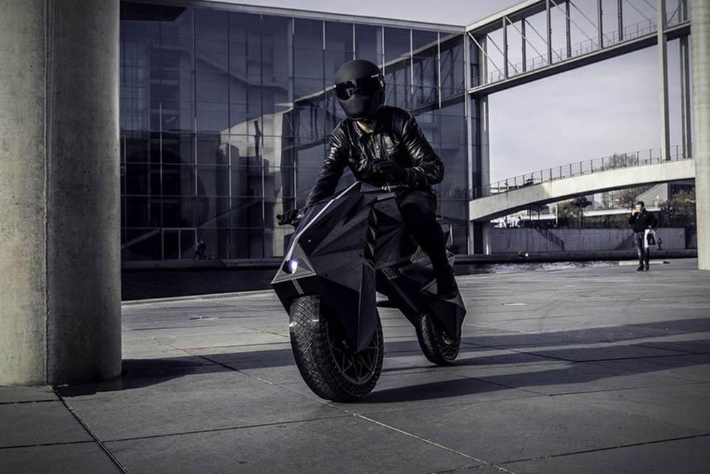 Nera 3D-geprinte elektrische motorfiets