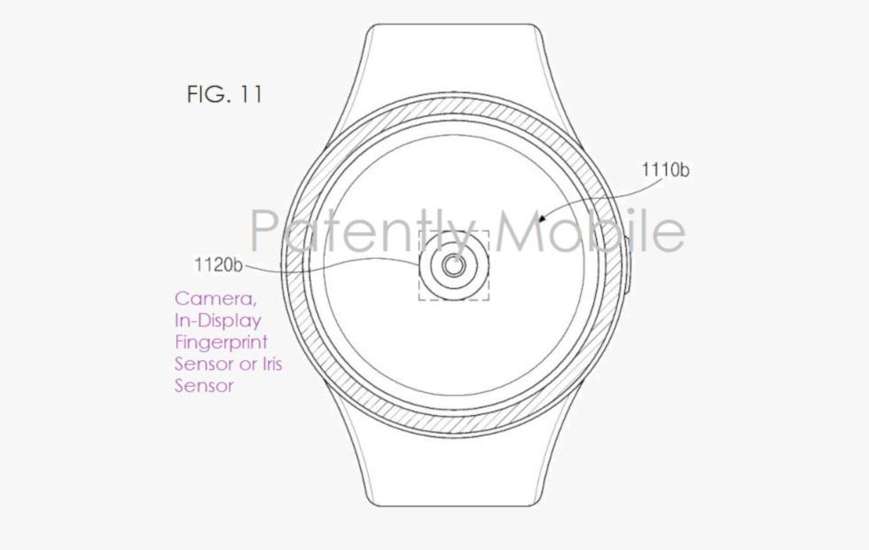 Samsung smartwatch vingerafdrukscanner