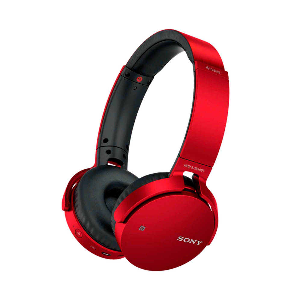 Sony on ear bluetooth koptelefoon mdr xb650bt rood