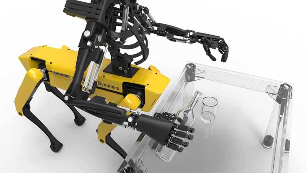 robothond Spotmini armen