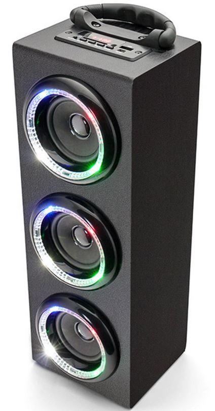 Caliber HPG526BTL-B draadloze bluetooth speaker met LED-verlichting
