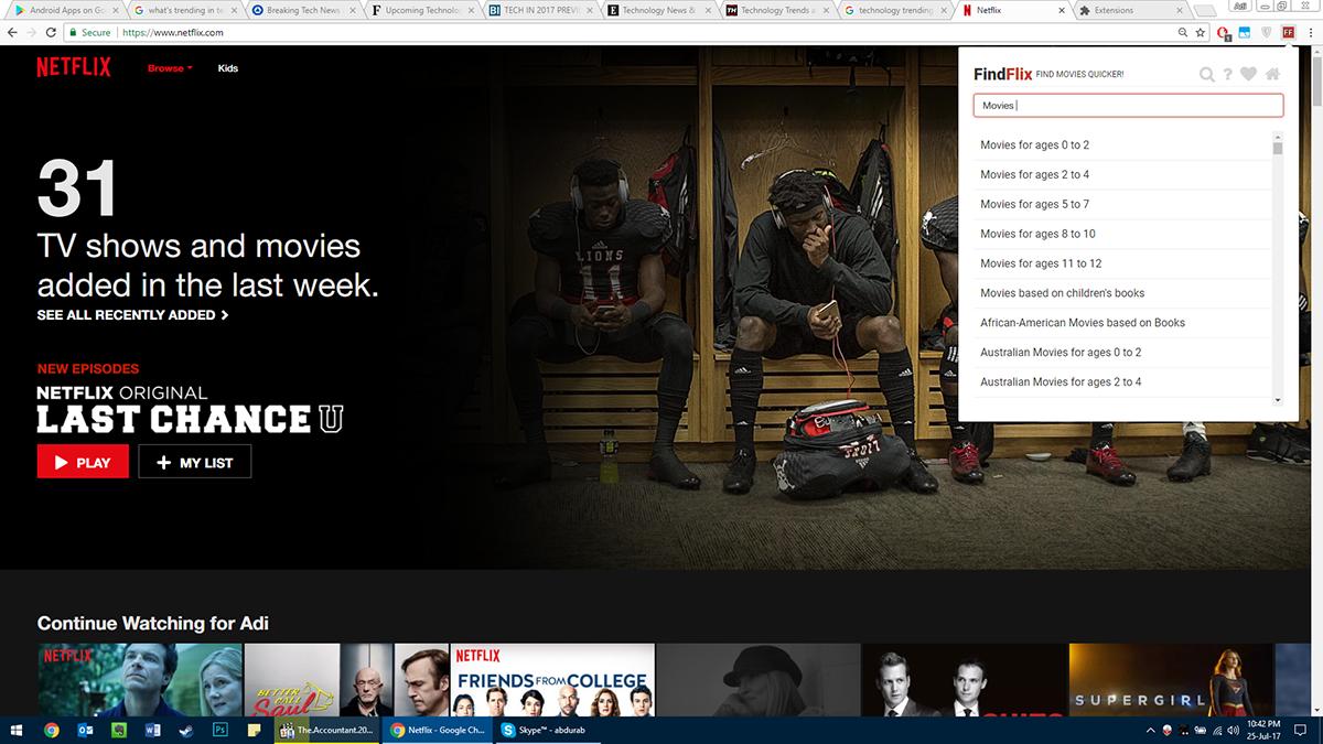 FindFlix Netflix tool