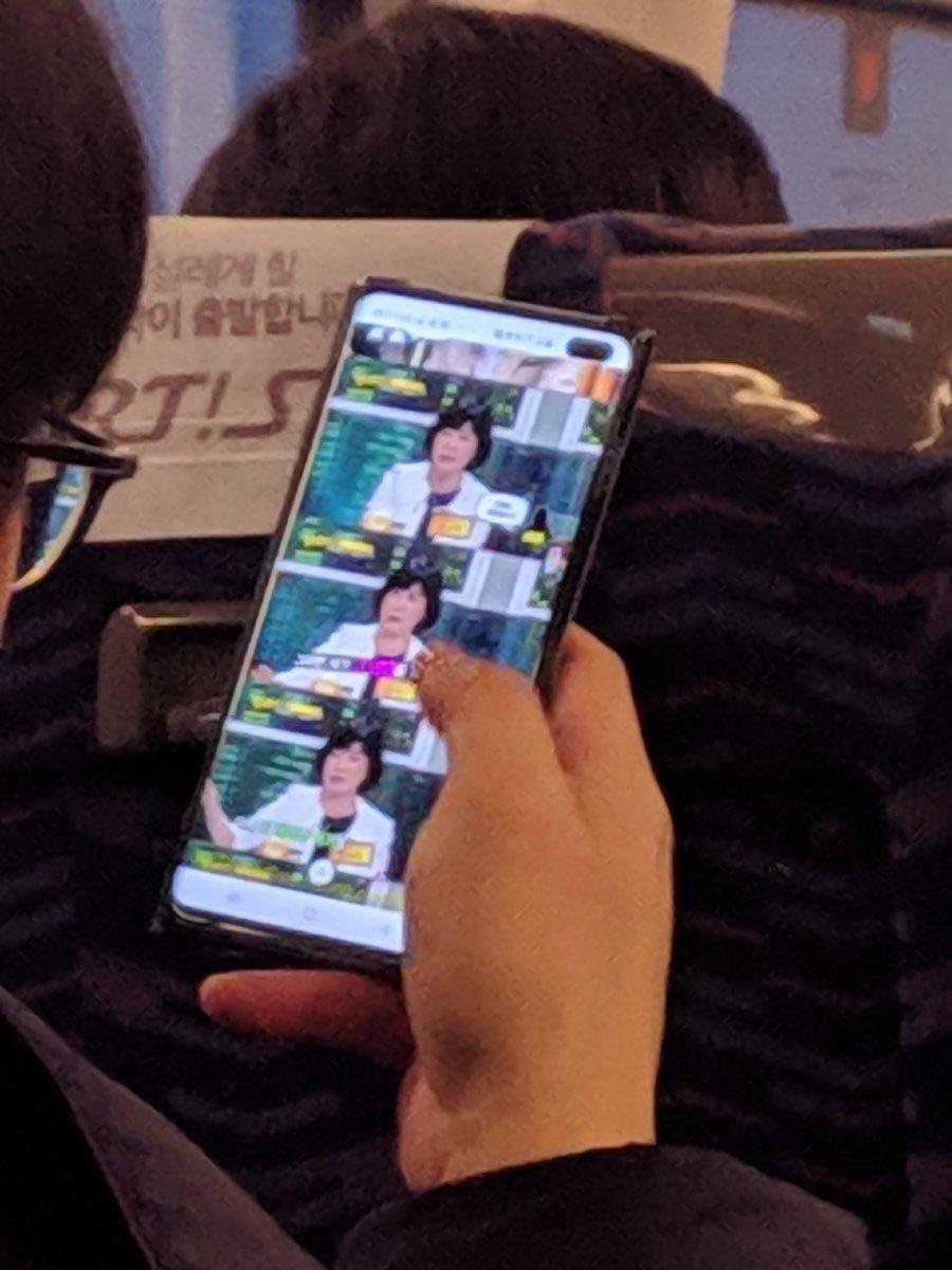 Samsung Galaxy S10 gelekt in het wild