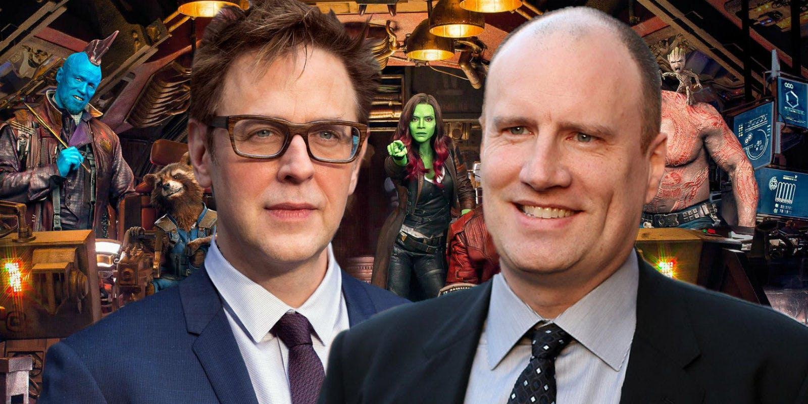 James Gunn (links) en Kevin Feige