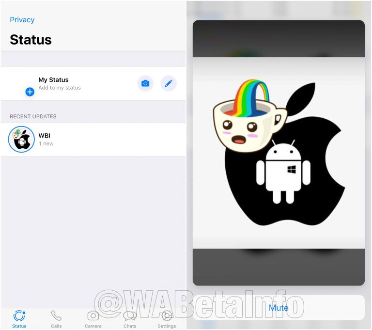 WhatsApp beta iOS stickers