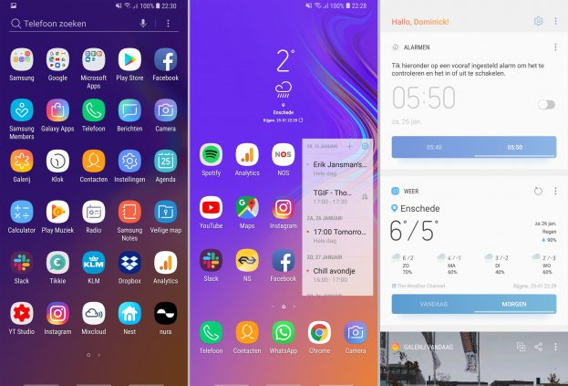 Samsung Galaxy A9 2018 screenshot interface